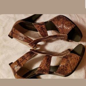 Michael Kors synthetic leopard heels